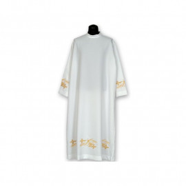 Clergy alb embroidered, stand-up collar (27)