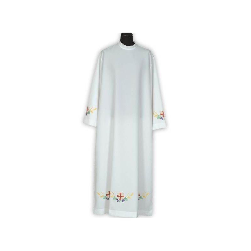Clergy alb embroidered, stand-up collar (28)