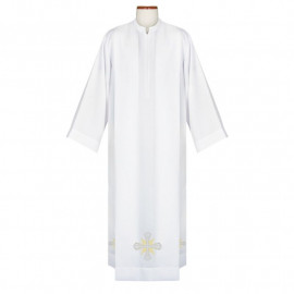 Clergy alb with embroidered cross (39)