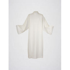 Clergy alb stand-up collar