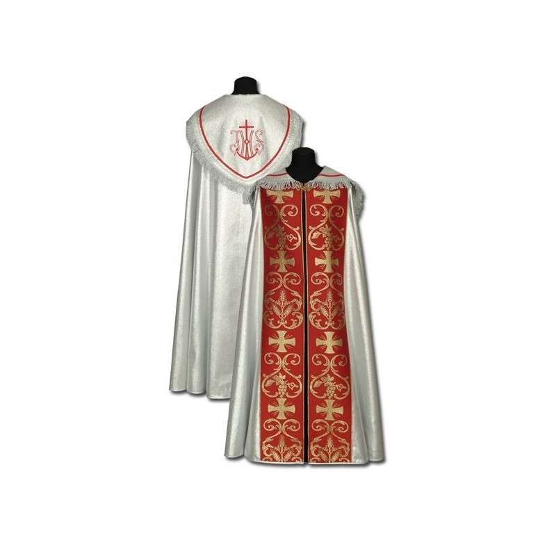 Silver - red cope - embroidered (1)