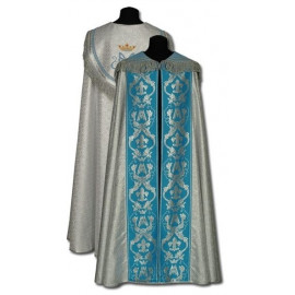Marian silver cope - embroidered (3)