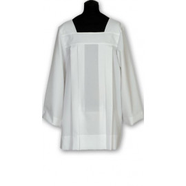 Clergy surplice - white georgette (3)