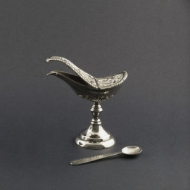 Nickel-plated brass boat height 12 cm