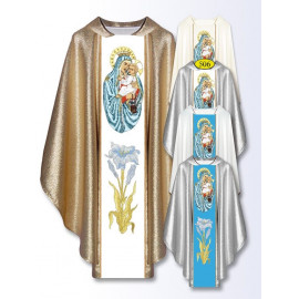 Embroidered chasuble with MB Scapular