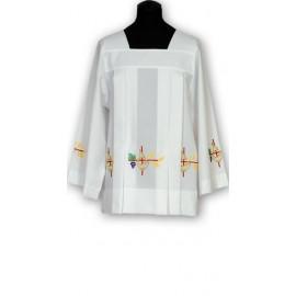 Embroidered georgette surplice (7)