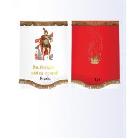 Church banner - St. Florian pray for us