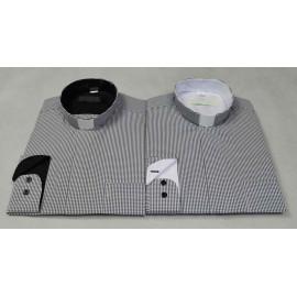 Clergy shirt - grey grid