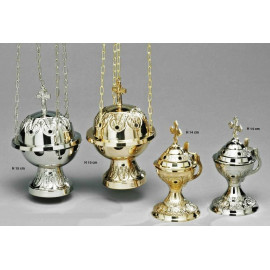 Silver set - boat + thurible (5)