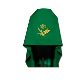 Green IHS embroidered veil