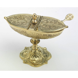 Thurible + boat + spoon - gold set