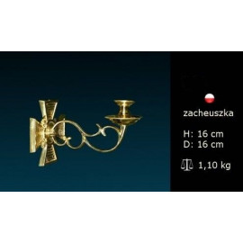 Brass wall sconce for candle light (5)