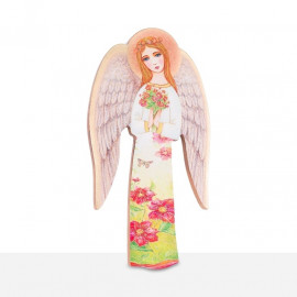 Guardian Angel icon - holding flowers (25)
