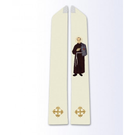 The stole with the image of Maximilian Kolbe