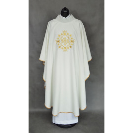 Embroidered chasuble - colour ecru