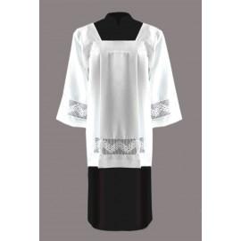 Clergy surplice with elegant cotton lace