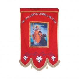 Banner printed-embroidered St. Wojciech