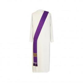 Purple deacon stole - jacquard