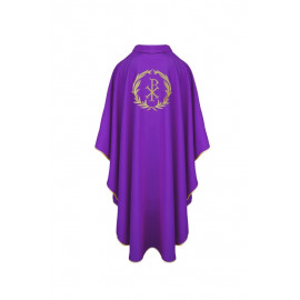 Chasuble with laurel wreath - violet