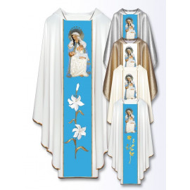 Chasuble with an embroidered image - Mother of God of Puerto Rico