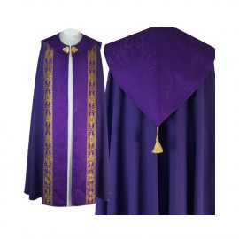 Liturgical cope gothic pattern - jacquard fabric