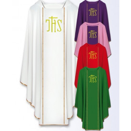 Chasuble with IHS embroidered belt (800)