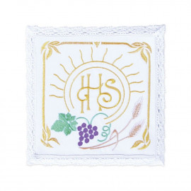 Chalice linen - IHS colorful embroidery (14)