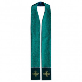 Priest's stole - damask fabric