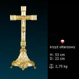 Gilded altar cross - 53 cm (6)