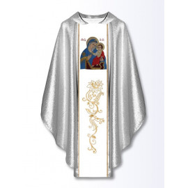 Chasuble with embroidered image - Mother of God Healing the Sick
