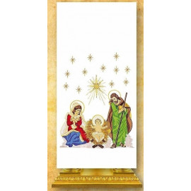 Pulpit cover embroidered Christmas (1)
