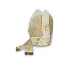 Mitre creme gold embroidered (3)