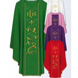 Chasuble with computer-embroidered belt (616)