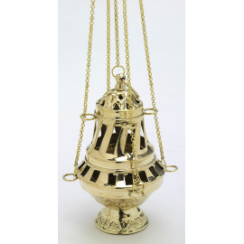 Brass thurible with steel coating - 16 cm