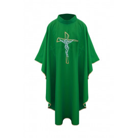 Chasuble with a cross - green