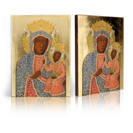 Icon of Our Lady of Częstochowa in a pearl dress