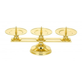 Triple altar candlestick