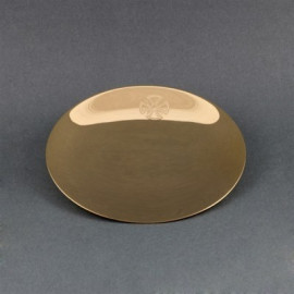 Paten of chalice 13 cm - brass, gold plated (3)