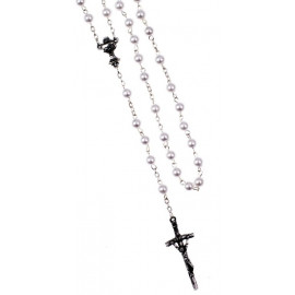 Rosary in white/pearl colour