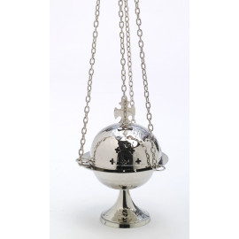 Nickel-plated thurible - 15 cm