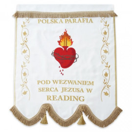 One-sided embroidered banner - Heart of Jesus