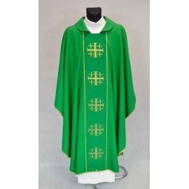 Chasuble Jerusalem Crosses - green