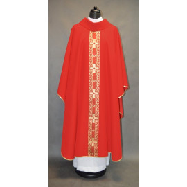 Chasuble with crosses red