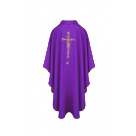 Chasuble with cross and thorns - violet