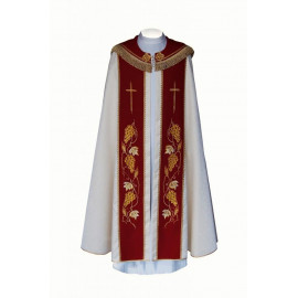 Liturgical cope embroidered IHS (7)
