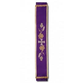 Bell sash embroidered purple