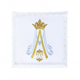 Chalice linen with Marian design - 100% cotton (9)