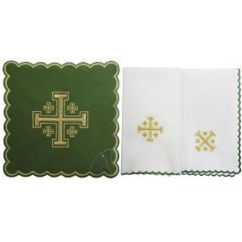 Chalice linen Jerusalem Cross - 18
