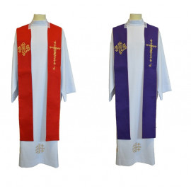 IHS two-sided clergy stole
