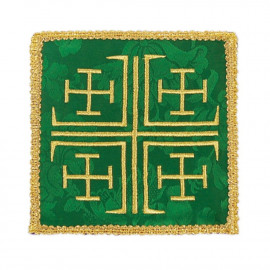 Pall embroidered green - Jerusalem Cross